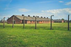 Concentration camp Auschwitz Birkenau II in Brzezinka, Poland. Royalty Free Stock Photo