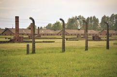 Concentration camp Auschwitz Birkenau II in Brzezinka, Poland. Royalty Free Stock Photography