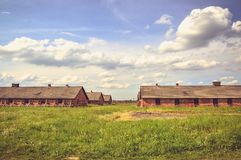 Concentration camp Auschwitz Birkenau II in Brzezinka, Poland. Stock Photography