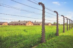 Concentration camp Auschwitz Birkenau II in Brzezinka, Poland. Stock Image