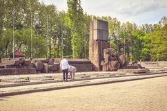 Concentration camp Auschwitz Birkenau II in Brzezinka, Poland. Royalty Free Stock Images