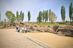 Concentration camp Auschwitz Birkenau II in Brzezinka, Poland. Royalty Free Stock Photography
