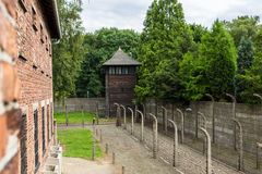 Concentration camp Auschwitz Royalty Free Stock Photography