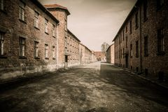 Concentration camp Auschwitz I, Poland Stock Photography