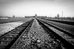 Concentration camp Auschwitz II Royalty Free Stock Image