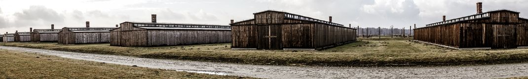 Auschwitz, Poland. Concentration Camp - barracks (Auschwitz II Stock Image