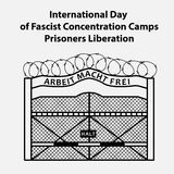 Concentration Camp illustration. International day of fascists concentration camps prisoners liberation. Flat  illustration Royalty Free Stock Photography