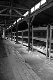 Concentration camp interior barrack Royalty Free Stock Photo