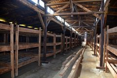 Concentration camp interior barrack Stock Photography