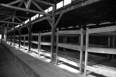 Concentration camp interior barrack Royalty Free Stock Photography