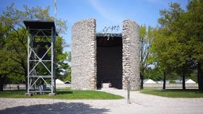 Concentration Camp Memorial Site in Dachau stock video