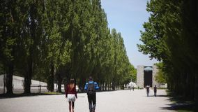 Concentration Camp Memorial Site in Dachau stock video footage