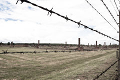 Concentration camp Oswiecim - Birkenau,Poland Royalty Free Stock Photo