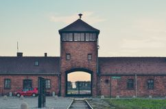 Concentration camp in Oswiecim, Poland. Royalty Free Stock Photography