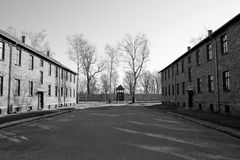 Concentration camp in Poland Royalty Free Stock Photography