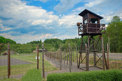 Concentration camp Vojna is a outdoor musem near Pribram, Czech Republic, where used to be detained prisoners of State in the comm Stock Image