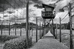 Concentration camp Vojna is a outdoor musem near Pribram, Czech Republic, where used to be detained prisoners of State in the comm Stock Images