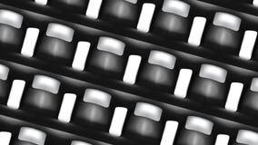 Concentration carrée sans couture des particules dans le mouvement HD 1920 illustration libre de droits