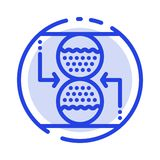 Concentration, Control, Effective, Sand clock Blue Dotted Line Line Icon stock illustration