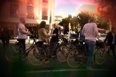 Concentration de Ciclist dans les rues de Séville 62 images stock