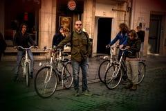 Concentration de Ciclist dans les rues de Séville 63 photographie stock libre de droits