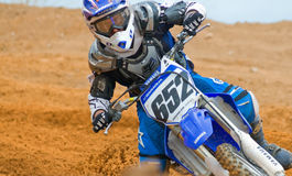 Concentration de motocross photographie stock