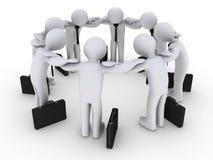 concentration des hommes d'affaires 3d Image libre de droits