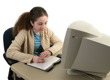 Concentration en tablette graphique Photo stock