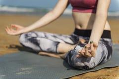 Concentration Serene Relaxation Concept paisible de méditation de yoga photo stock
