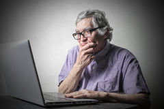 Concentration with technology Royalty Free Stock Image