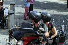 Concentrazione 03 dei motociclisti Fotografia Stock