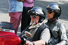 Concentrazione 05 dei motociclisti Immagini Stock