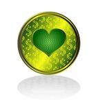 Concentrazione di dollaro nel cuore Fotografie Stock