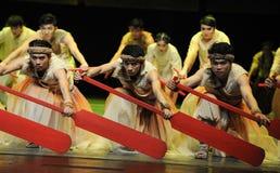 Concentreer zijn aandacht - De derde handeling van de gebeurtenissen van dans drama-Shawan van het verleden stock foto