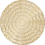 Concentric beige circles in mosaic. Illustration, Beige button in mosaic style royalty free illustration