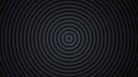 Concentric black circles abstract 3D render. Concentric black circles. Abstract 3D render Royalty Free Stock Images