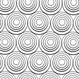 Concentric black rings Stock Photos