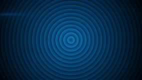 Concentric blue circles abstract 3D rendering. Concentric blue circles. Abstract 3D rendering Royalty Free Stock Image