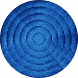 Concentric blue circles in mosaic. Illustration, Blue button in mosaic style vector illustration