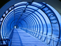 Concentric blue tunnel Stock Photography
