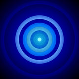 Concentric Blue And White Circles Background. 2D rendered image with concentric blue and white circles Stock Photography