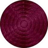 Concentric burgundy circles in mosaic. Illustration, Burgundy button in mosaic style vector illustration