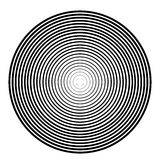 Concentric circle element on a white background Royalty Free Stock Photos