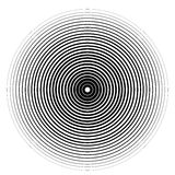 Concentric circle element on a white background Royalty Free Stock Image