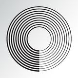 Concentric circle geometric element. Vector royalty free illustration