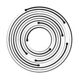Concentric circle geometric element. Vector. Illustration royalty free illustration