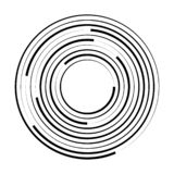 Concentric circle geometric element. Vector illustration royalty free illustration