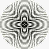 Concentric circle. Illustration for sound wave. Black and white color ring.  illustration. Concentric circle. Illustration for sound wave. Black and white color Royalty Free Stock Photography