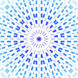 Concentric circle ornament light blue and azure on white Royalty Free Stock Photography