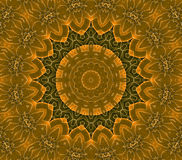 Concentric circle ornament orange gold ocher brown Stock Photography